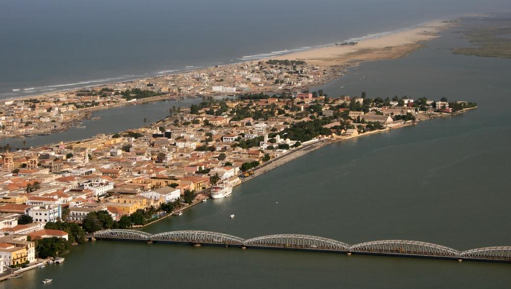 Saint-Louis, le Fleuve Sénégal, l'Atlantique