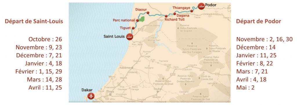 Saint Louis Calendrier.Descriptif De La Croisiere Sur Le Fleuve Senegal A Bord Du
